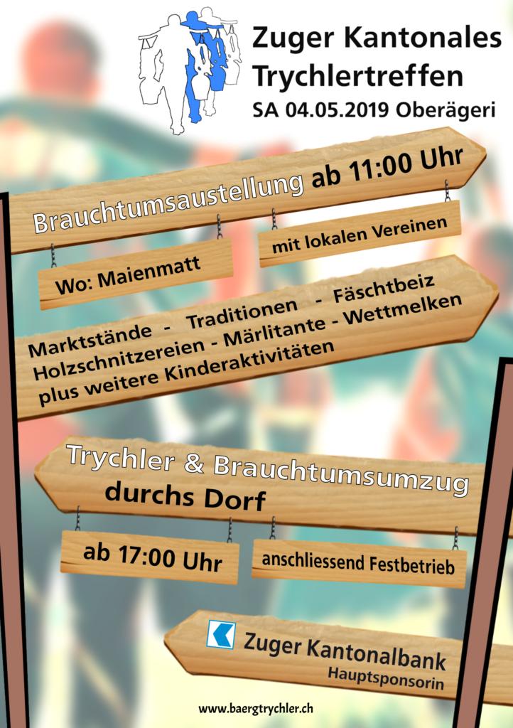 Zuger Kantonales Trychlertreffen 2019 - Tagesprogramm